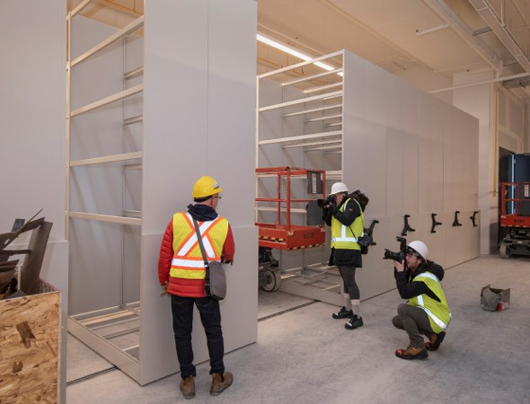 Most of the shelving will be moved manually (February 2019)