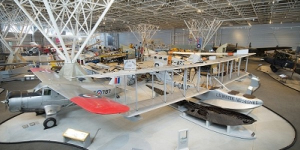 Main Exhibition Hall at the Canada Aviation and Space Museum