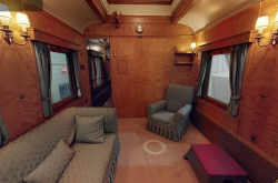 A VR, 360 degree camera tour of the museum's Governors General rail cars.