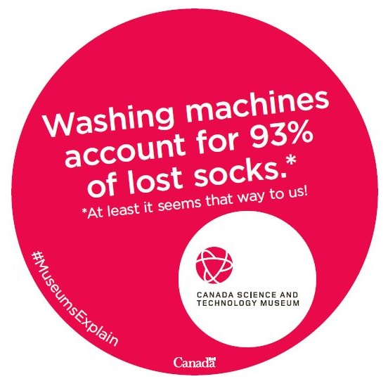 Washing machines account for 93% of lost socks.