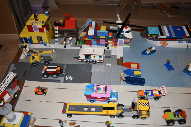 "A Family's LEGO® creation called ""Busy Town!"""