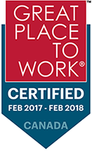 2017-2018 Certified - Great place to work