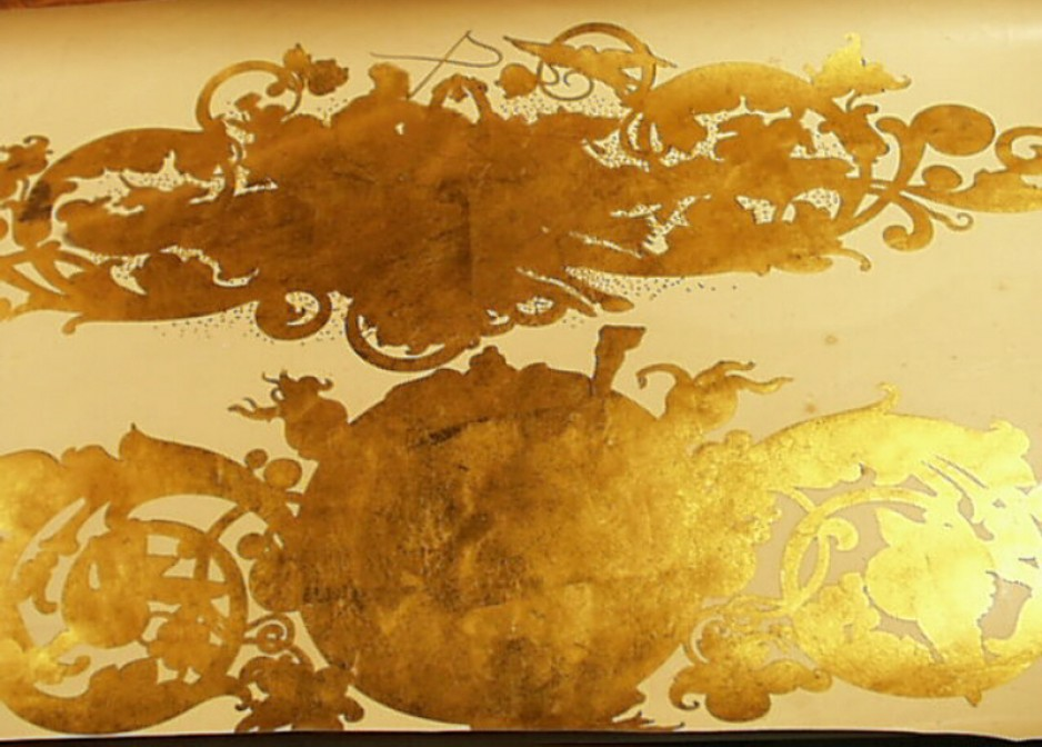 Tearne & Sons transfers coated with gold leaf