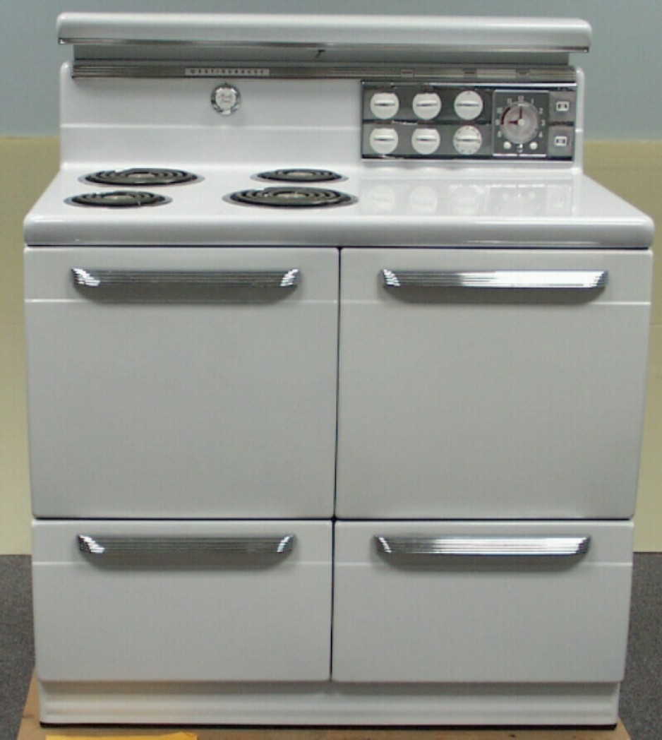 Electric range designed by J. M. Little, Canadian Westinghouse Company Limited, circa 1950