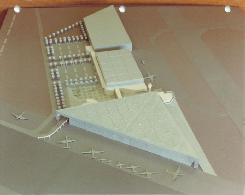 A 3D model of the National Aviation Museum.