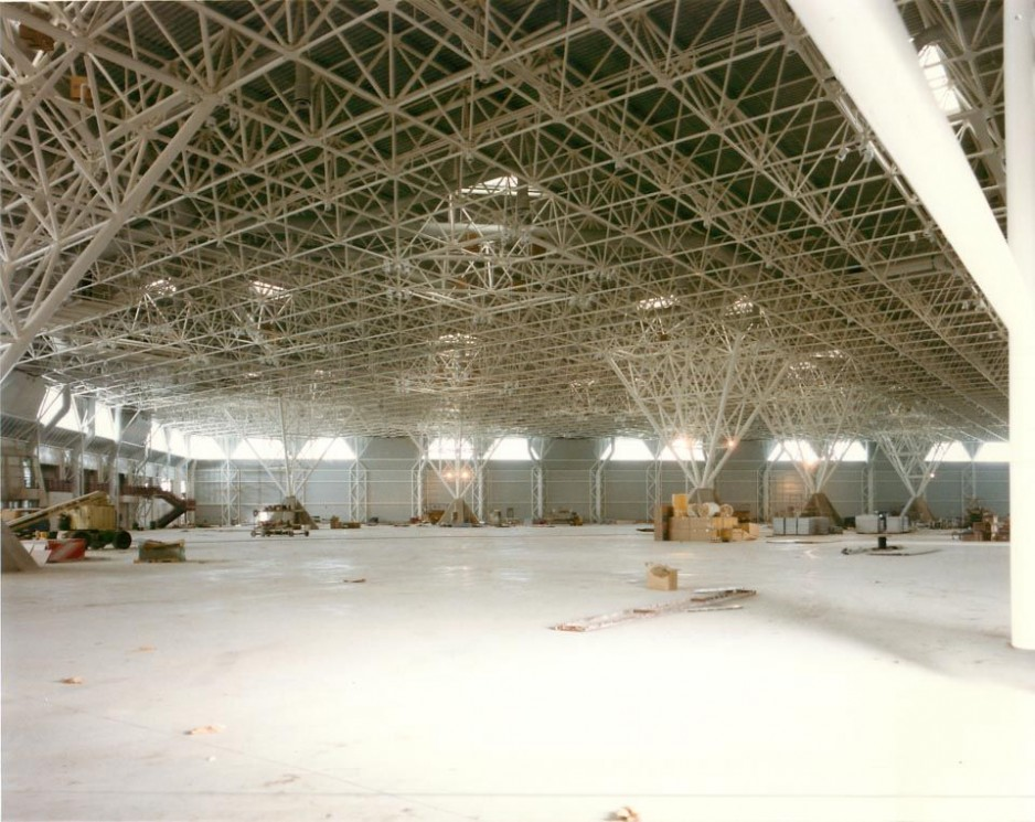 The floor of the museum during construction