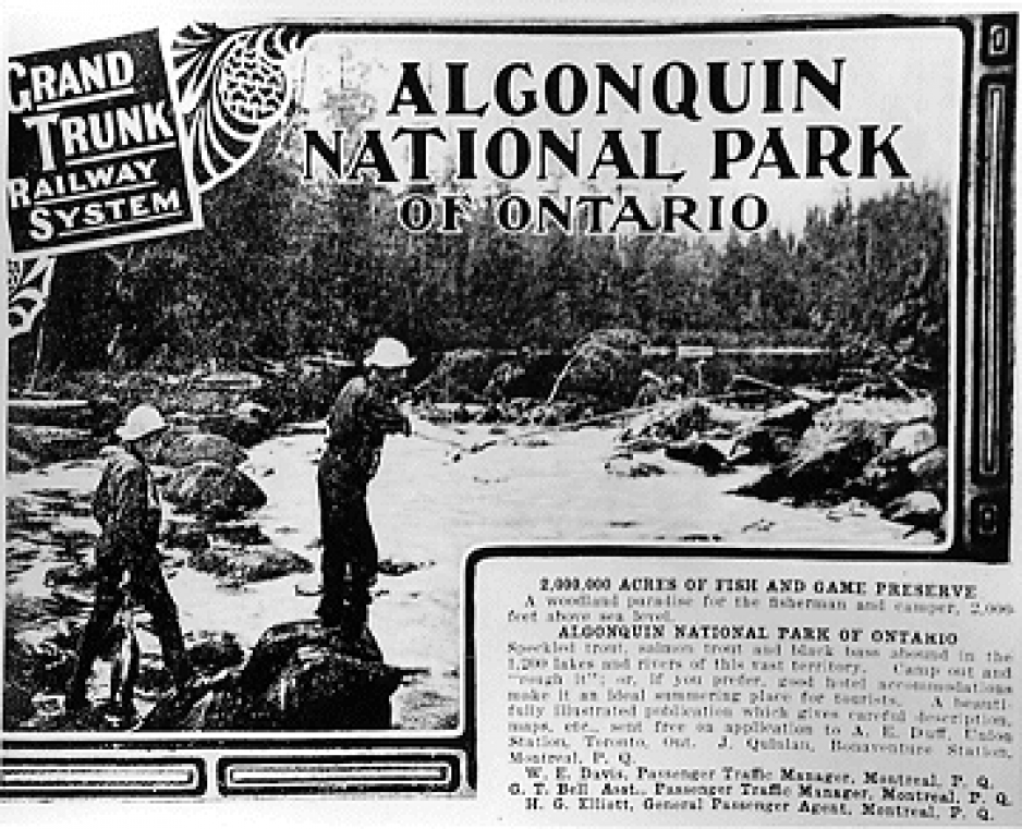 Grand Trunk Railway advertisement for Algonquin Park