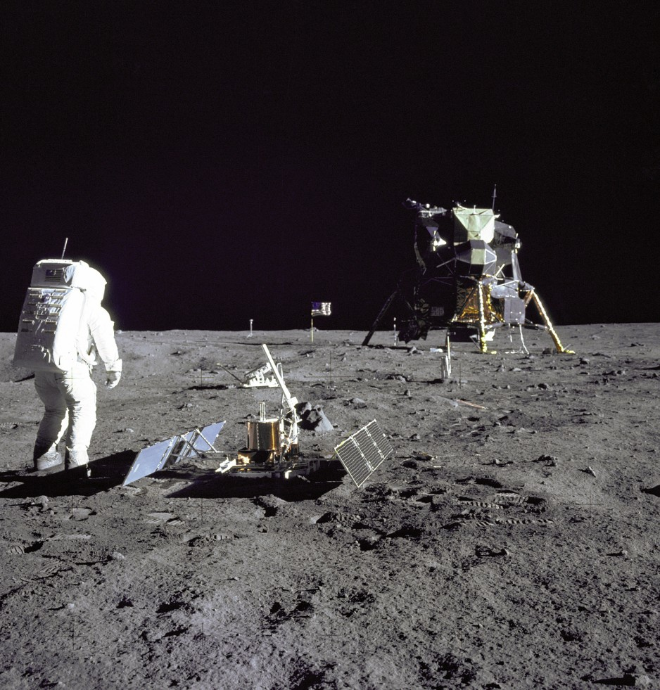 Buzz Aldrin at Tranquility Base.