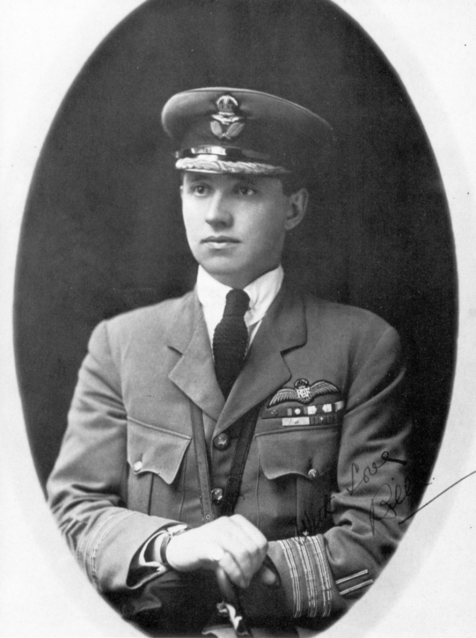 A black-and-white photo of William George Barker in his RAF uniform, taken around 1919