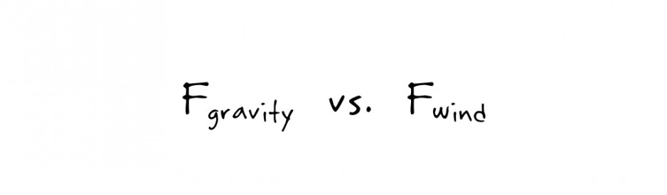 Equation: Force of gravity vs force of wind
