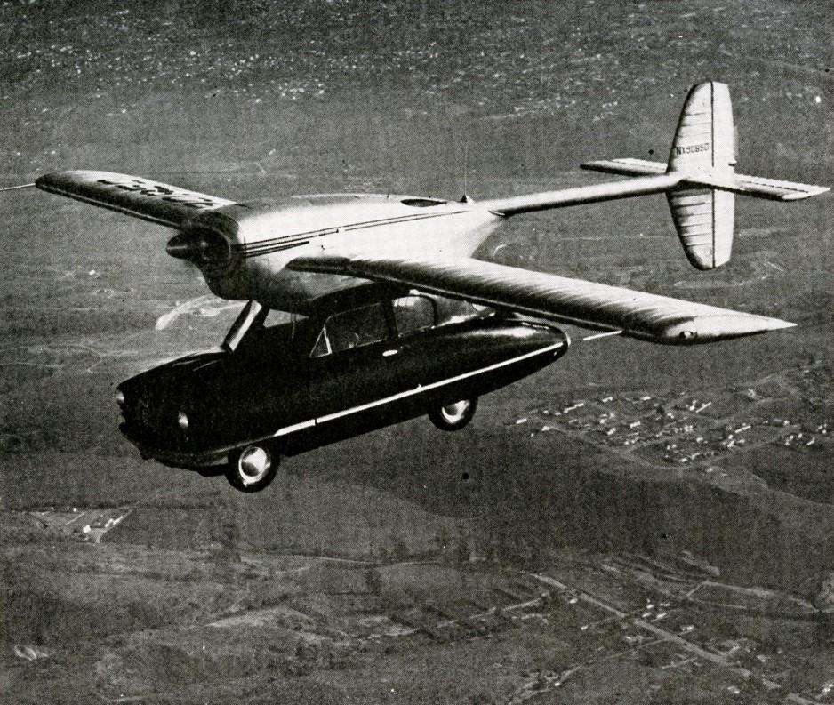 "The first prototype of the Consolidated Vultee Model 118 flying car. Anon., ""Fly it... or drive it."" Skyways, September 1948, 25."