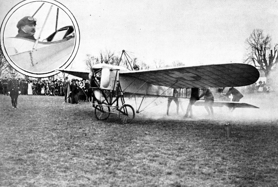 "A typical Blériot Type XI flown by Swiss aviator Attilio Maffei to promote the Swiss national subscription for military aviation. Anon., ""Maffei vole pour l'aviation militaire à Soleure et à Sion."" La Suisse Sportive, 17 May 1913, 3 067."