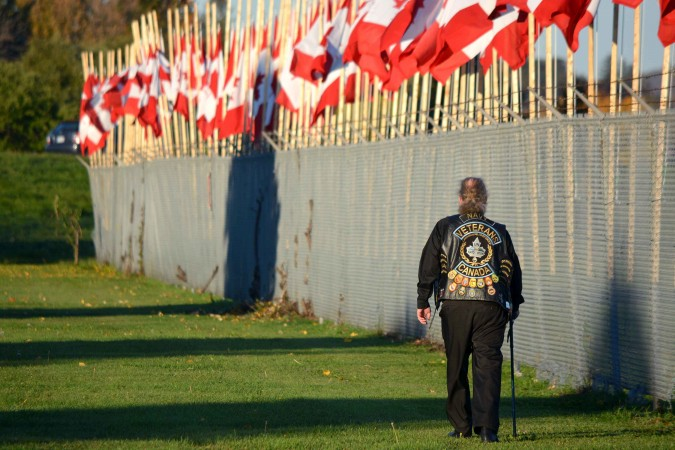 Veteran Gordon Jensen, organizer of the Flags of Remembrance ceremony in Ottawa