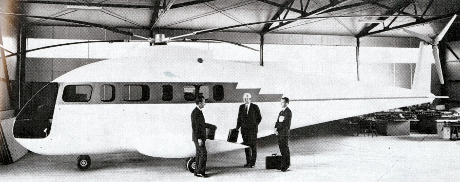 "The full size mock up of the Berlin Doman BD-19 helicopter. Anon., ""Jane's all the World's Aircraft Supplement – Berlin Doman."" Flying Review International, April 1969, 31."