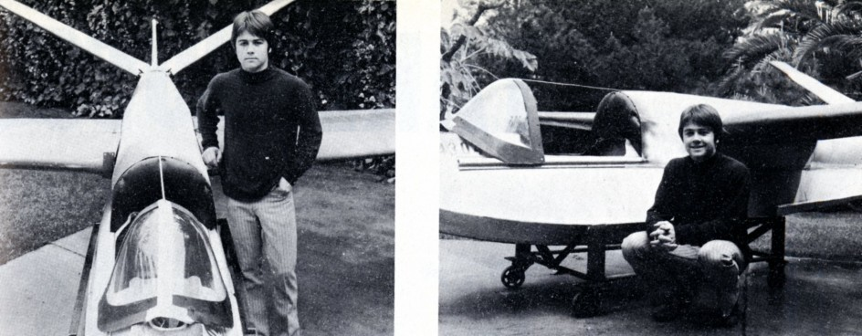 "Thomas R. Trefethen et son hydravion à coque monoplace. John Murray, ""Trefethen's Fantastic Machines."" Sport Aviation, mars 1971, 33."
