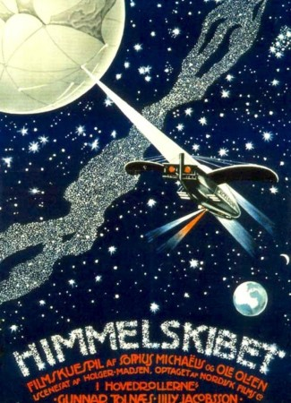 Poster for the Danish feature film Himmelskibet, 1918.