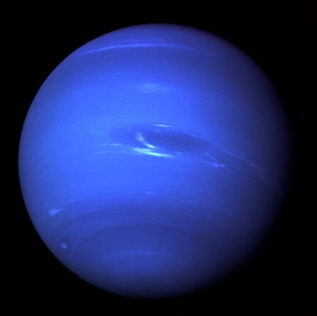 The planet neptune as imaged by the Voyager 2 spacecraft