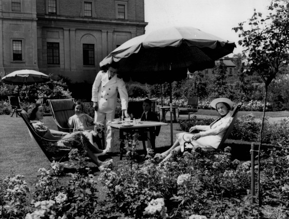 Rose Garden at the Nova Scotian Hotel, Halifax, NS, 1937.
