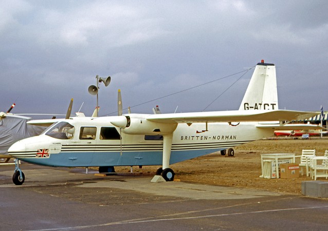 The prototype of the Britten-Norman Islander at the 26e Salon international de l'aéronautique et de l'espace, Le Bourget, Paris, June 1965. RuthAS, via Wikipedia