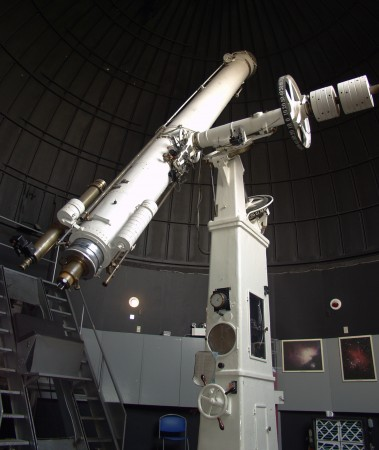 The Dominion Observatory's historic 15-inch telescope
