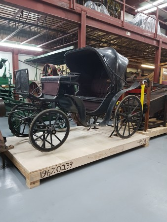 This Victoria carriage, manufactured by R.M. Stevens, is now ready to be moved to the Ingenium Centre for long-term storage.