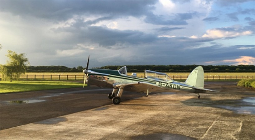 KDN at her beautiful summer base at Finmere Aerodrome.