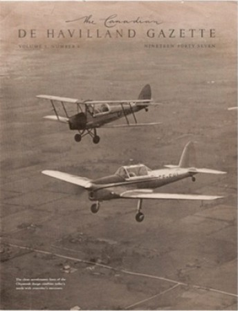Magazine cover with Tiger Moth and the new Chipmunk