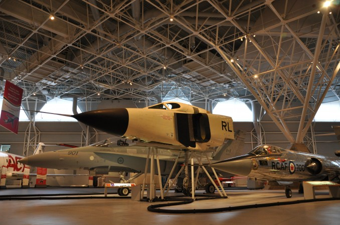 The nose section of RL 206 on display at the Canada Aviation and Space Museum.