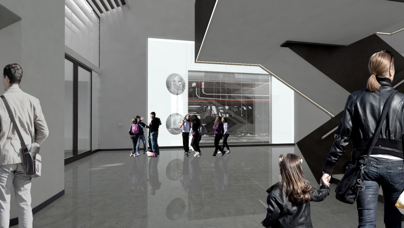 An artistic rendering of the new Collections Conservation Centre.