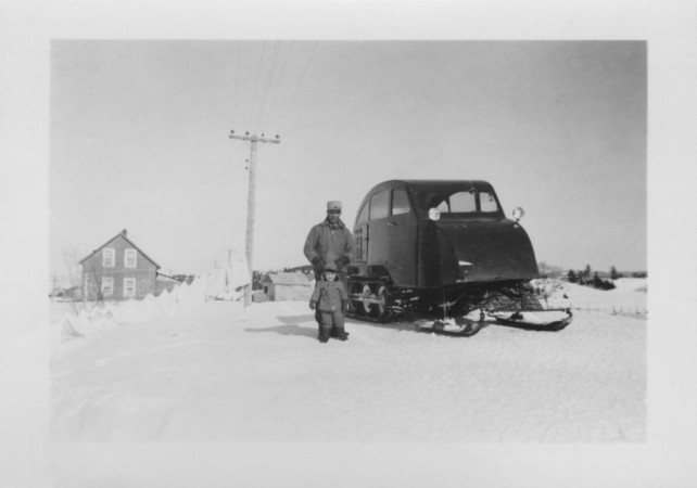 "Archival photo of the Bombardier ""B7"" Snowmobile"