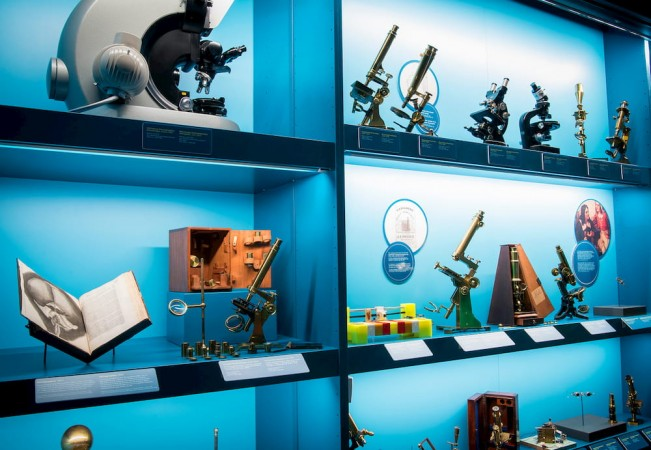 Photo of different microscopes