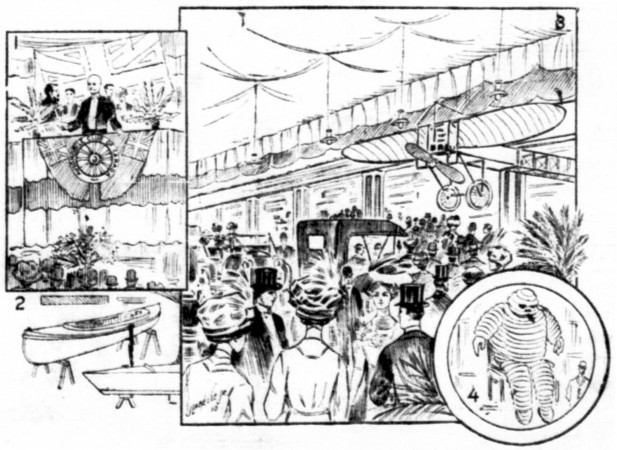 "A few aspects of the fourth Montréal Motor Show. Anon., ""Ouverture de l'exposition d'automobiles et de yachts."" La Presse, 28 March 1910, 1."