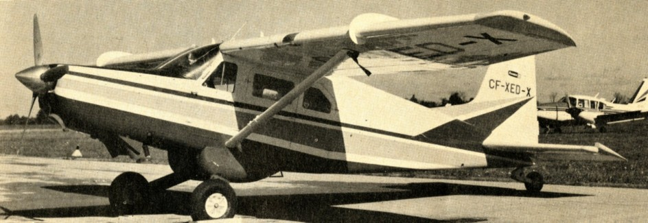 "One of the Aeronautica Macchi AL-60s used in Canada by Northwest Industries Limited to interest potential customers, Edmonton, Alberta. Anon., ""Aeronews."" Air Progress, July 1969, 15."
