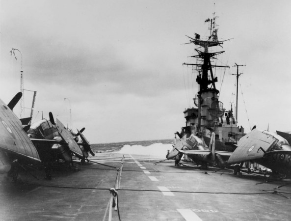 Grumman Avenger AS.3 aircraft on the HMCS Magnificent