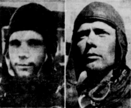 "Yuri Alekseyevich Gagarin and Charles Augustus Lindbergh. The caption of these photographs mentions the striking resemblance between these important people in the world of astronautics and aeronautics. Anon., ""Lancement du premier homme dans l'espace – Comment se sont déroulés les événements en Union soviétique."" La Tribune, 13 April 1961, 24."