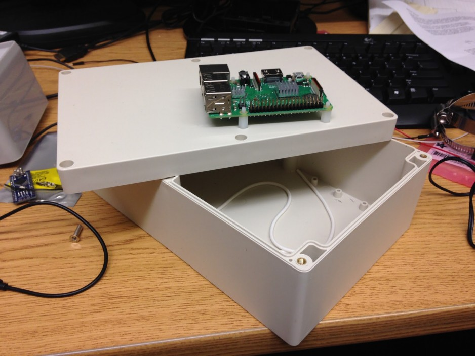 New box with Raspberry Pi for scale