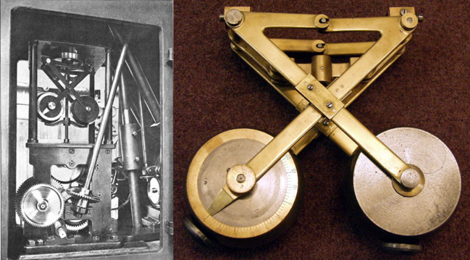 The telescope's mechanical drive apparatus and fly-weight governor.