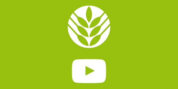 White museum logo and play button on a green background. Watch Canada Agriculture and Food Museum's youtube videos.