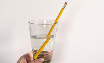 Broken Pencil Illusion