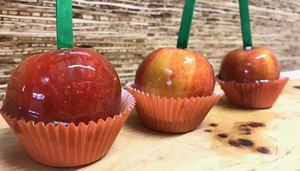 Caramel Apples in muffin cups