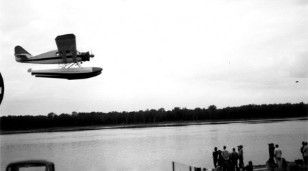 historial image of the Bellanca CH-300 bush plane flying over water
