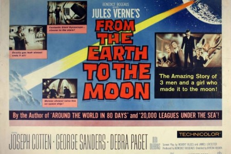 A poster for the movie From the Earth to the Moon