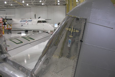 KDN on display in the Bombardier Delivery Hangar.