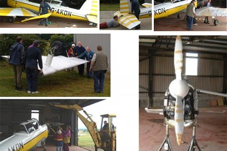 KDN at Bagby being disassembled with the help of Graham Fox and crew.