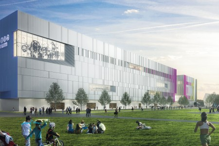 An artist's rendering of the Ingenium Collections Conservation Centre, currently under construction next to the Canada Science and Technology Museum in Ottawa.