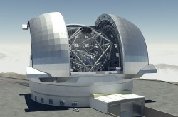 An artists impression of the Extremely Large Telescope, to be in use by 2024.