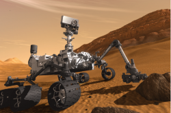 An artists impression of the Curiosity rover