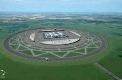 An artists impression of a circular runway.
