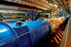 An image inside the Large Hadron Collider.