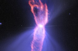 An image of the Boomerang Nebula.
